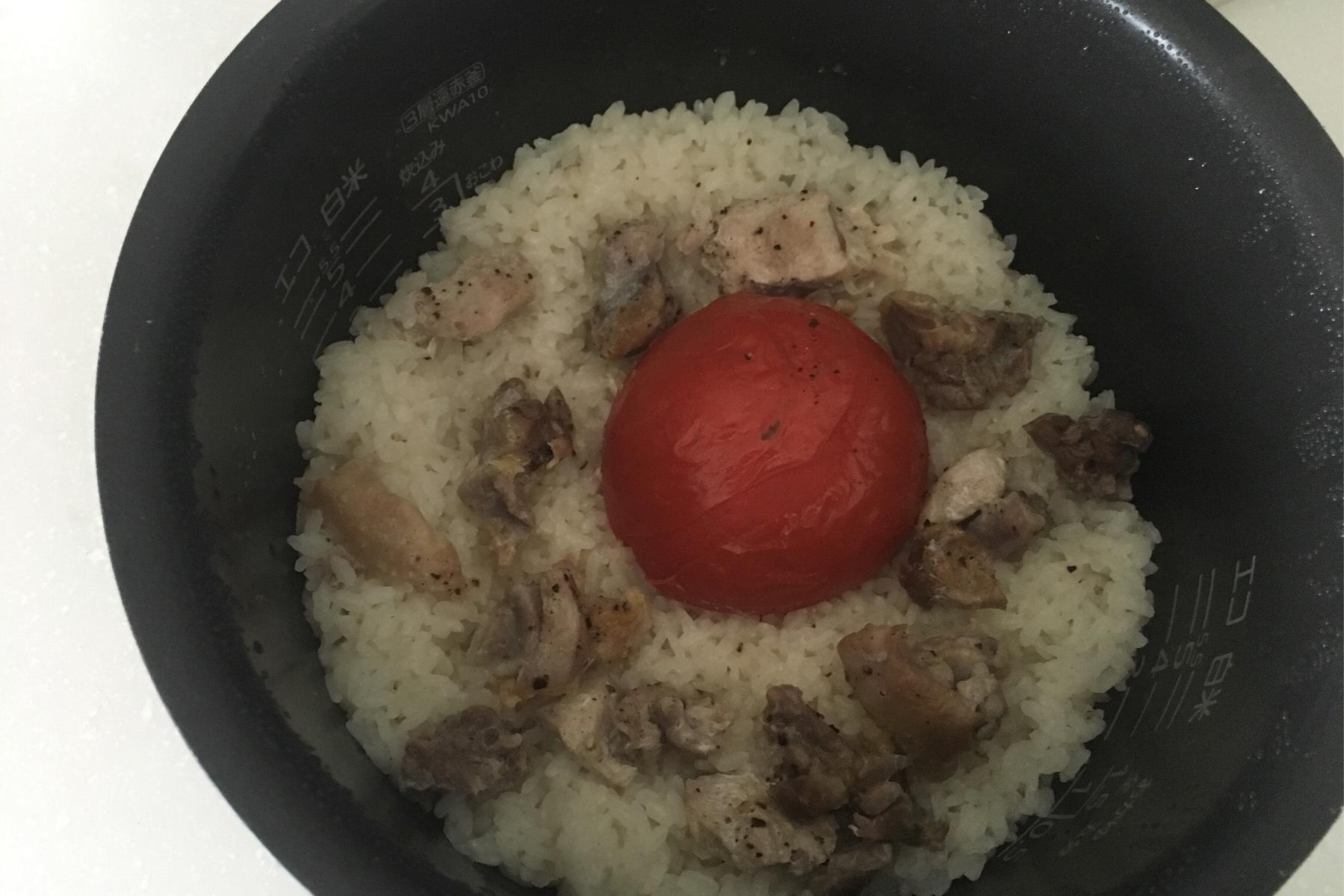 トマト丸ごとご飯出来上がり