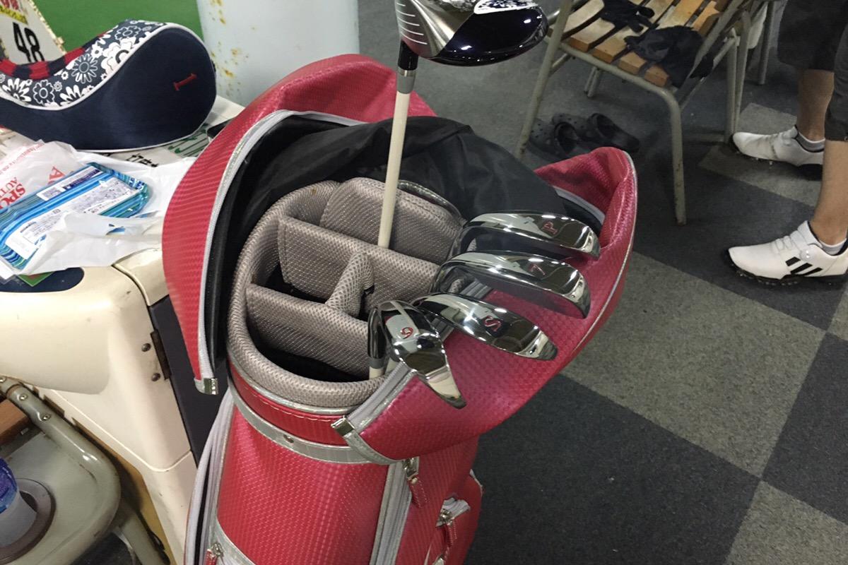 使える状態になったゴルフ道具たち