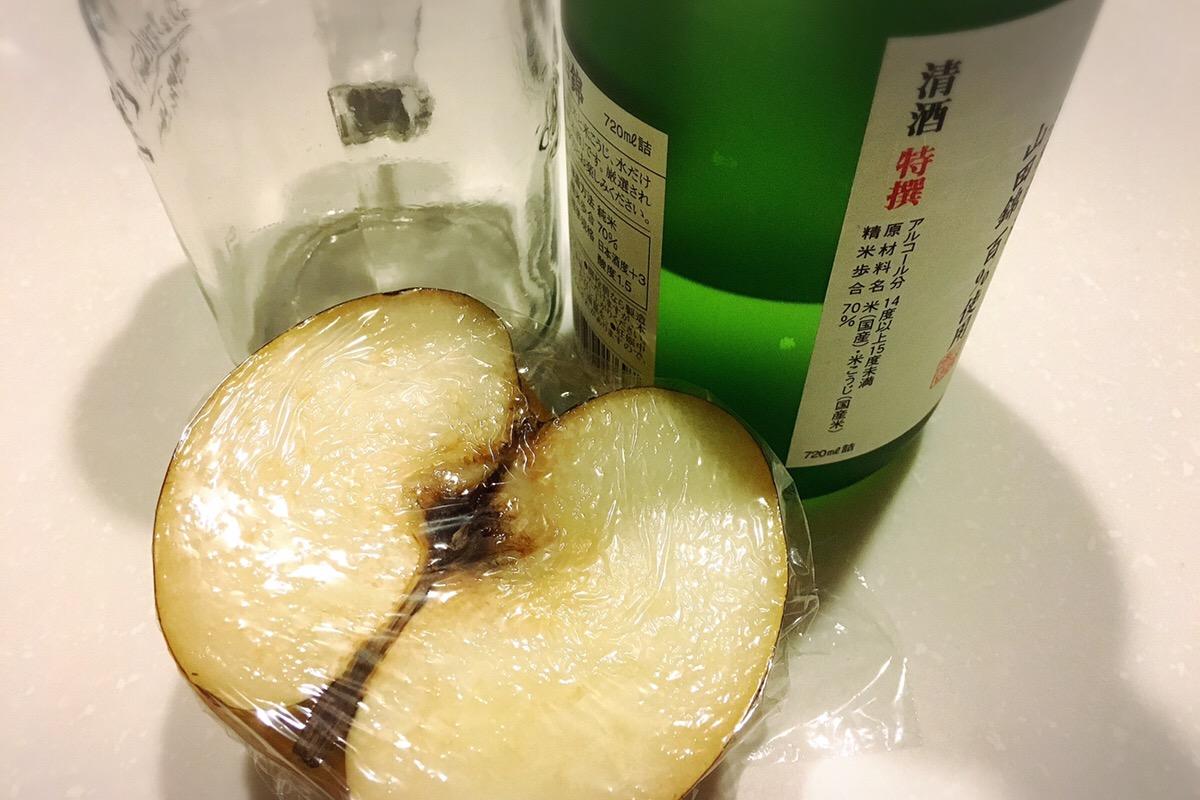 梨と日本酒