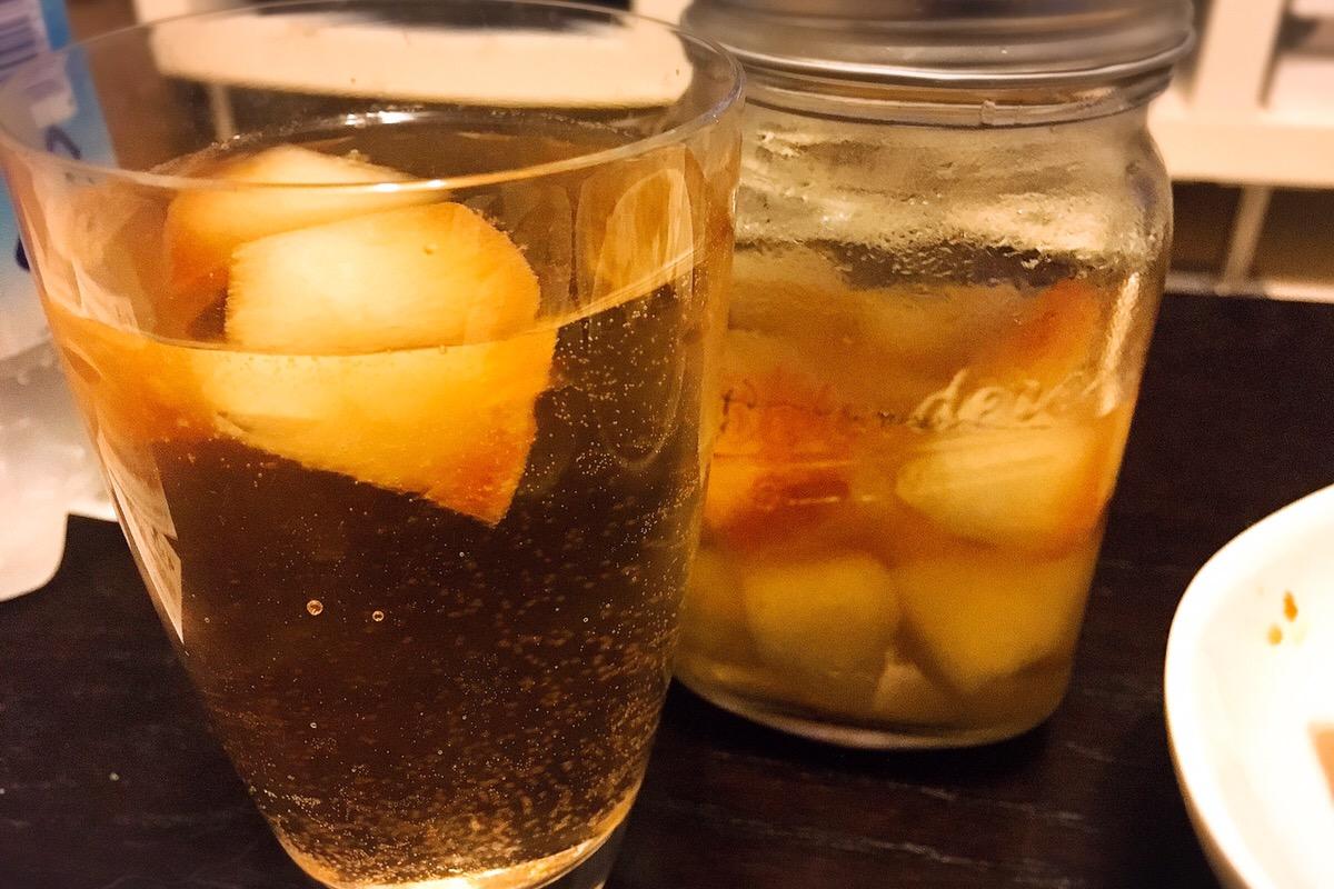 梨の日本酒サングリア