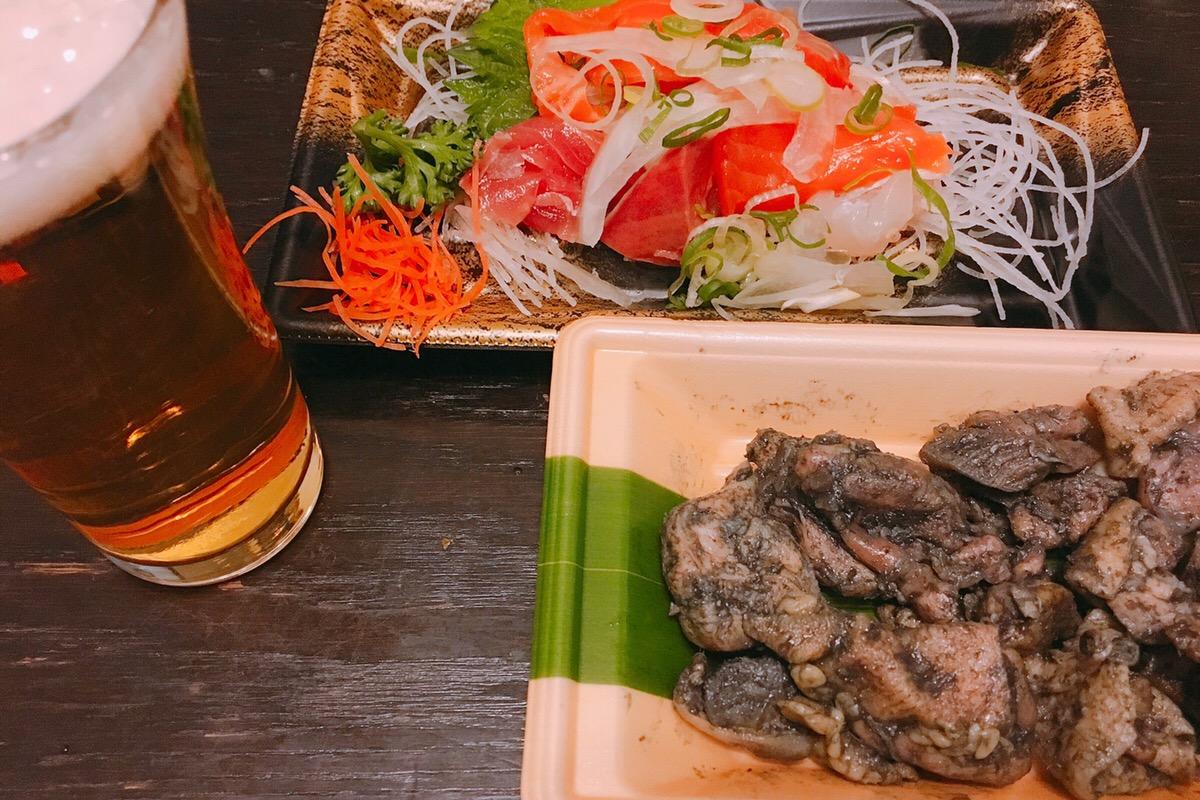 惣菜とビール
