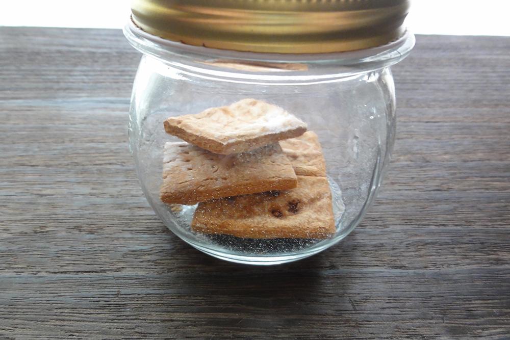 4週間経った米粉乾パン