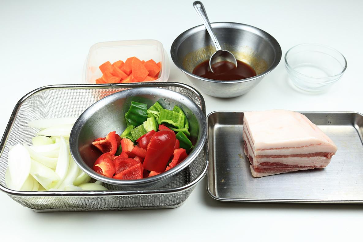 酢豚の材料