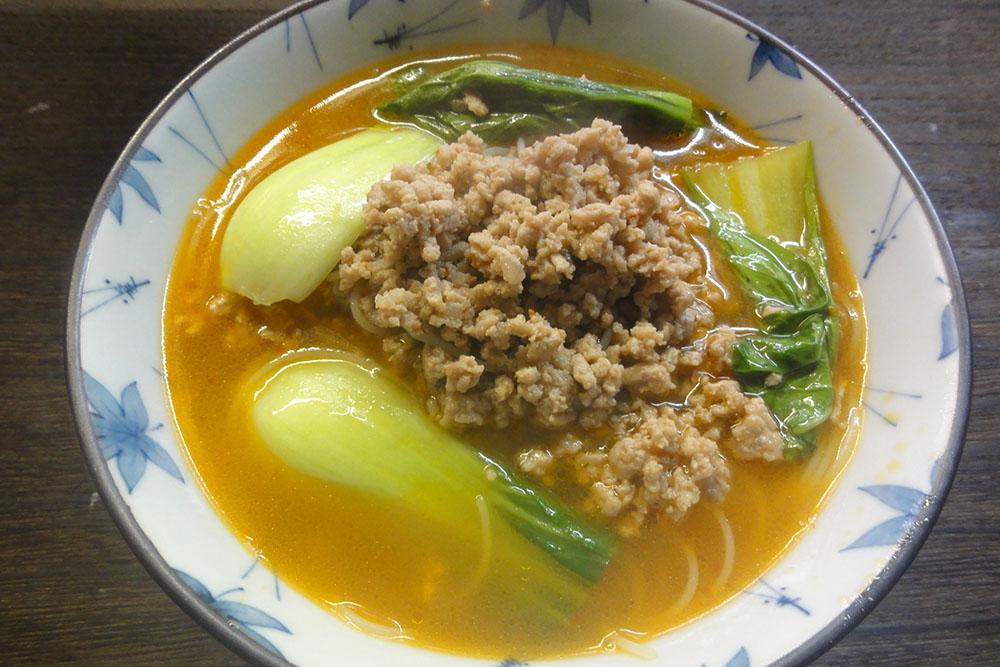 ピリ辛ビーフン担々麺(風)