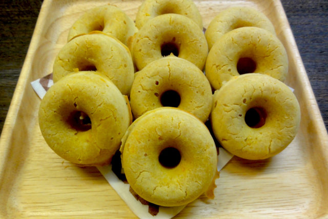 卵・小麦不使用米粉かぼちゃ焼きドーナツ