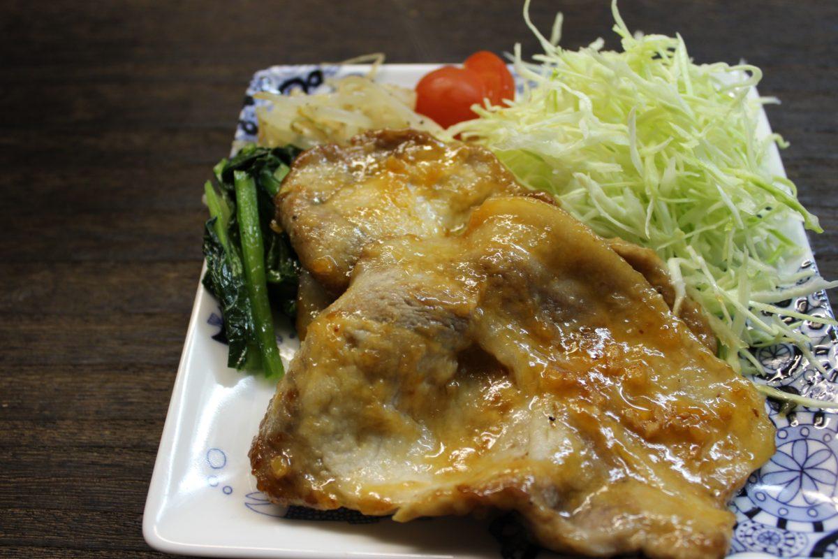 ガッツリ豚肉生姜焼き,小麦アレルギー対策