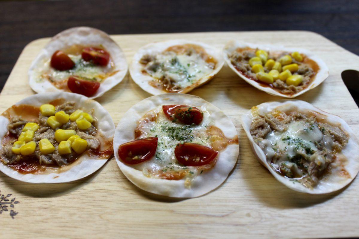 米粉餃子の皮で簡単ピザ!,小麦アレルギー対策
