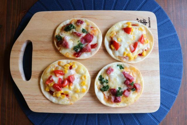 【生ハム切り落とし】簡単ミニピザ,ナンチク