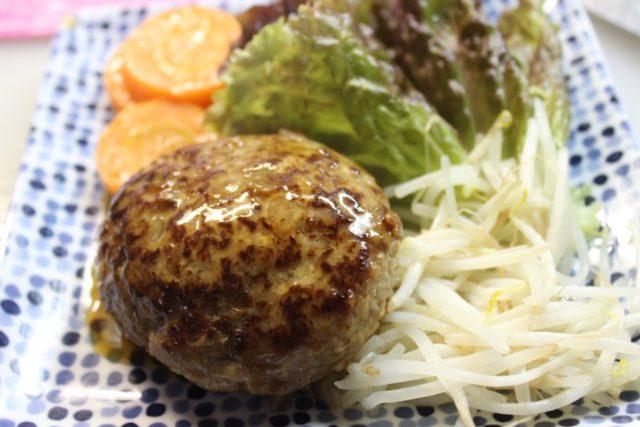 ふっくらジューシー豆腐ハンバーグ