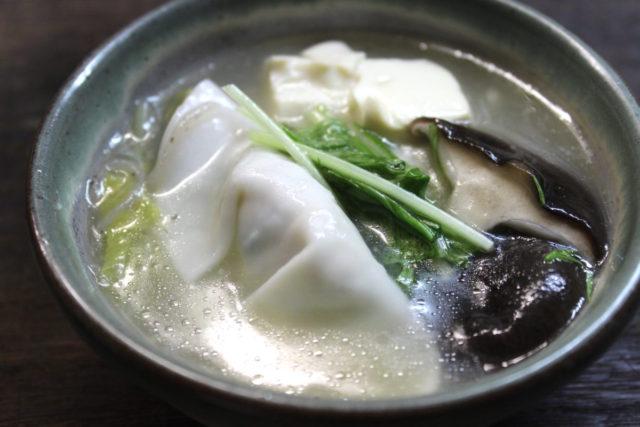 米粉餃子スープ.小麦アレルギー対策