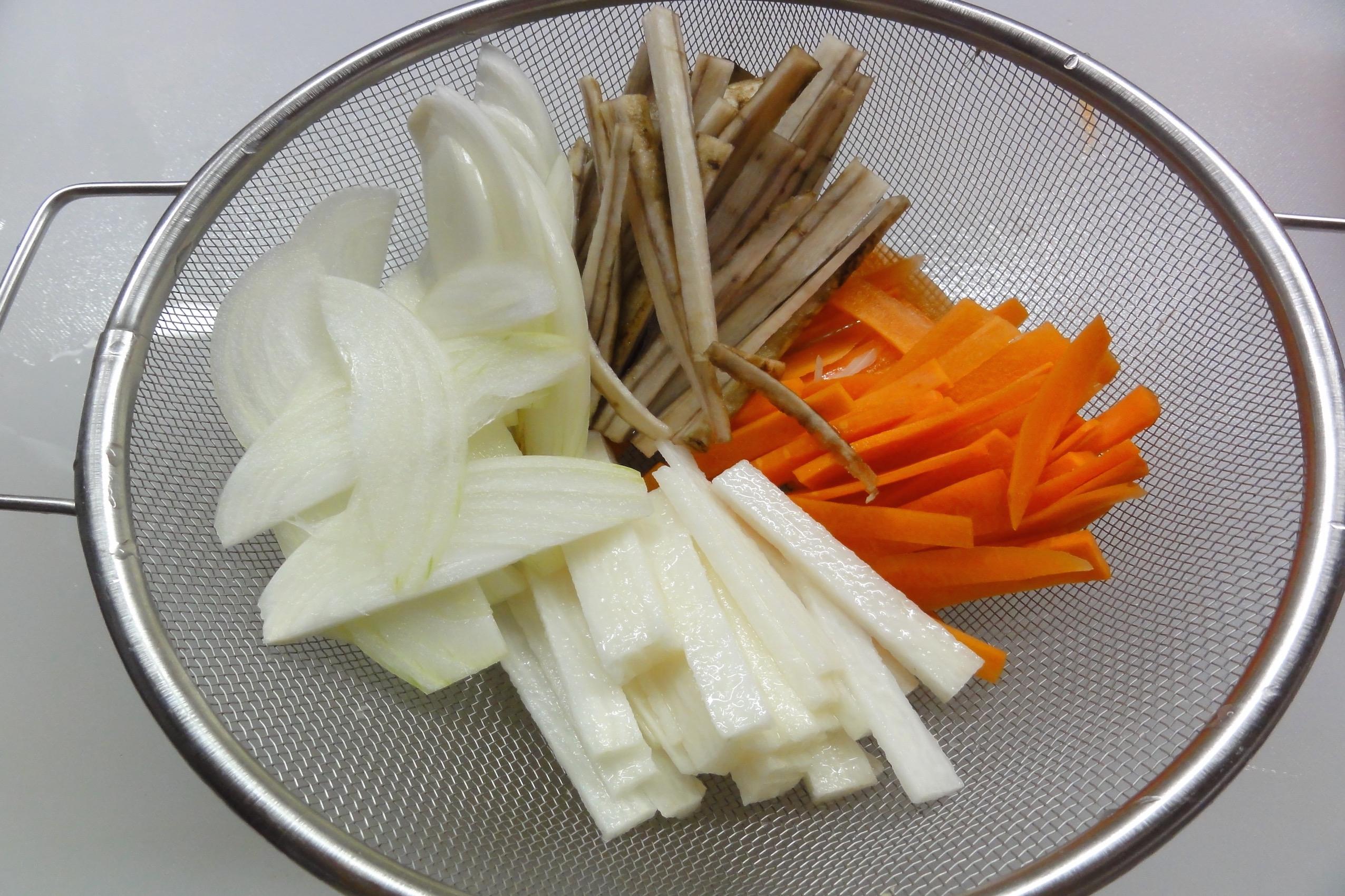 野菜を切っておく