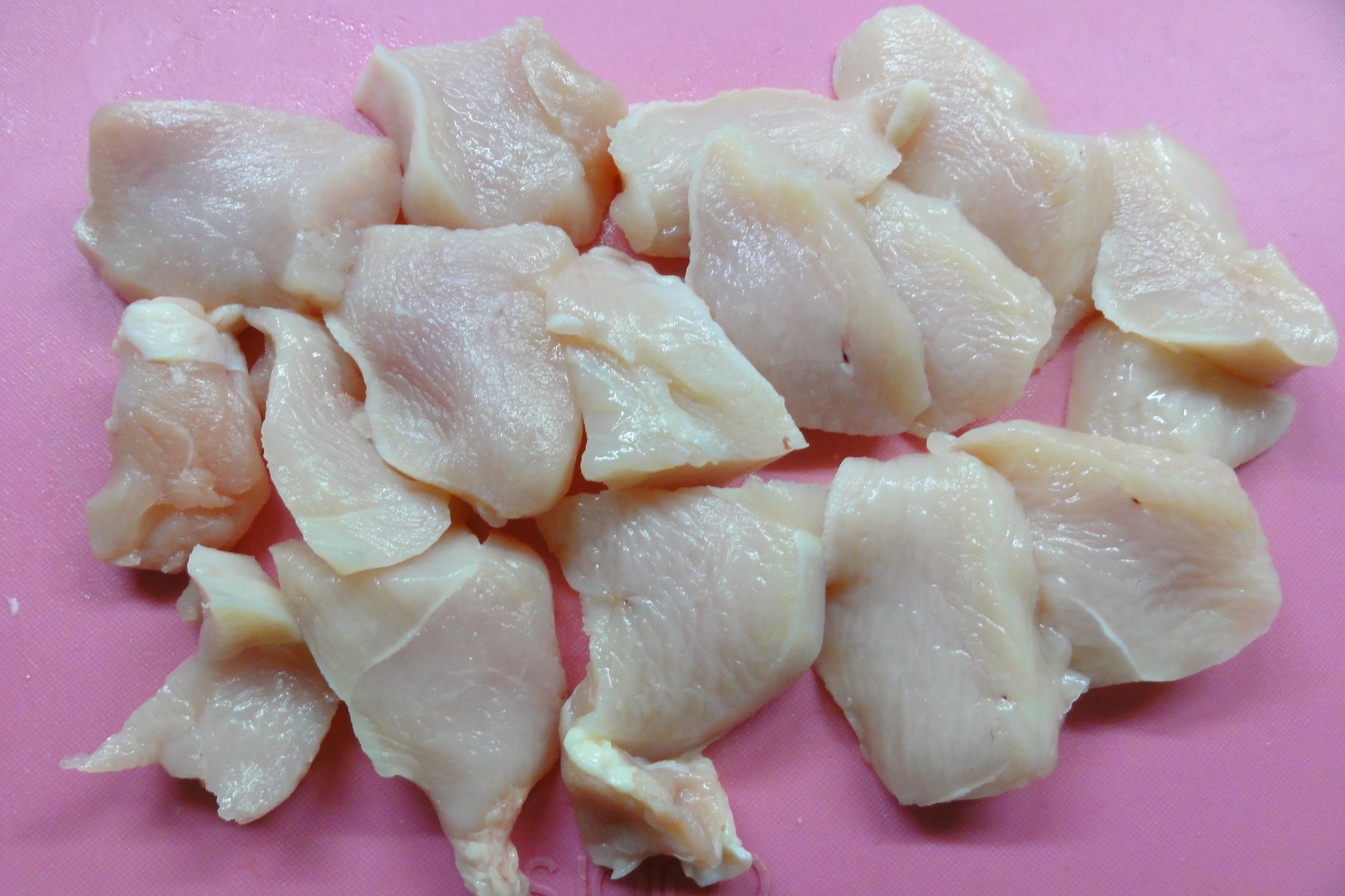 鶏胸肉のそぎ切り