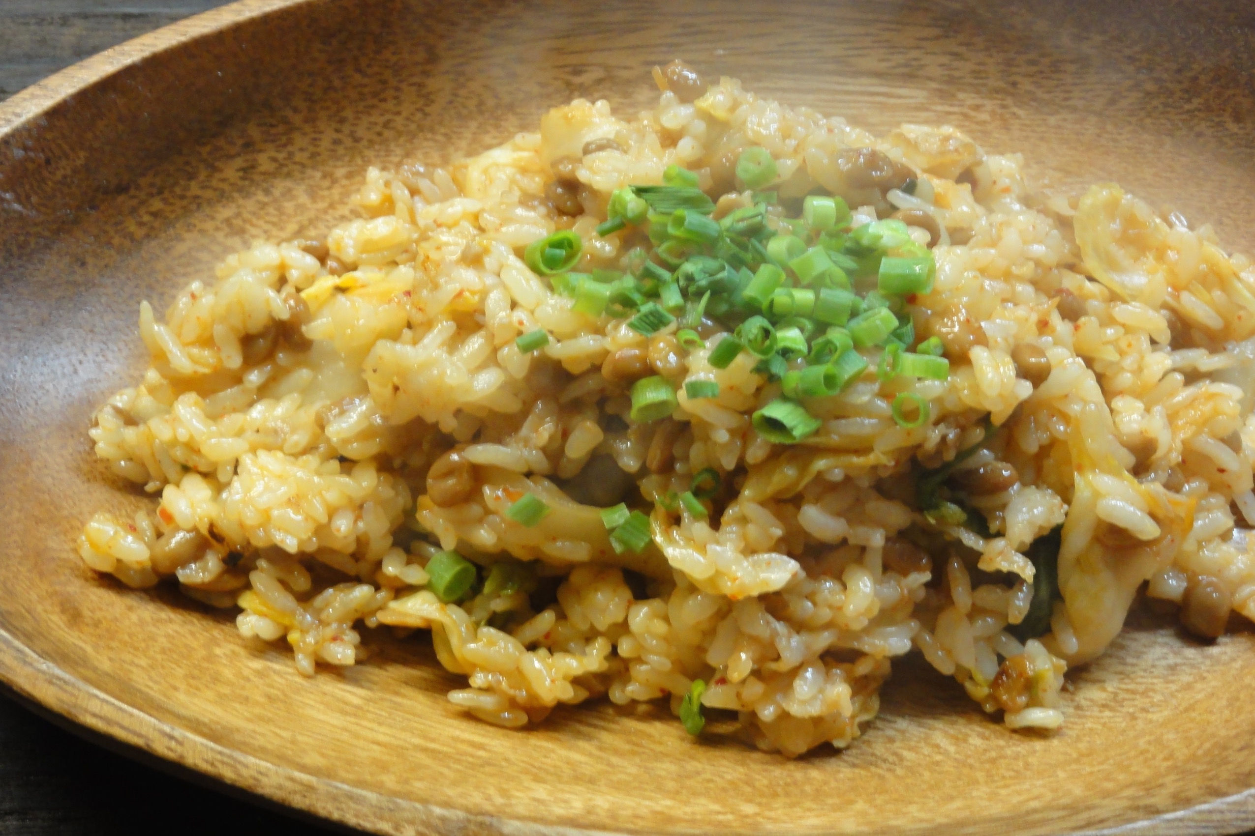 納豆 チャーハン 作り方