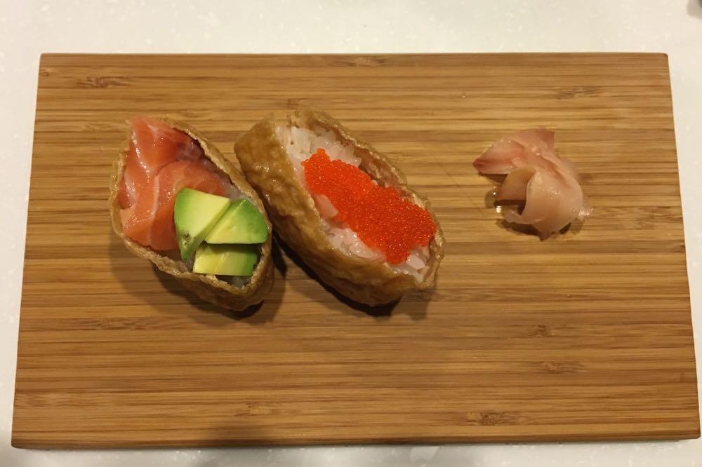いなり寿司の完成