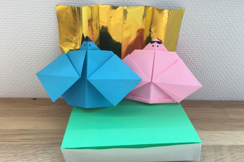 折り紙de雛人形