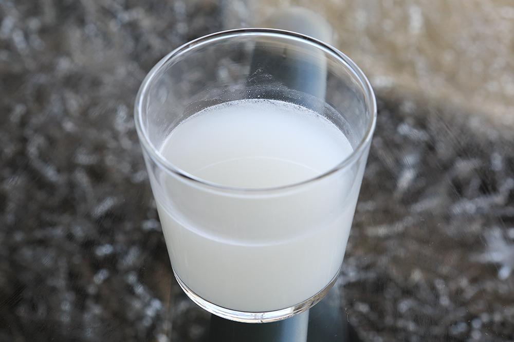 水道水のとぎ汁