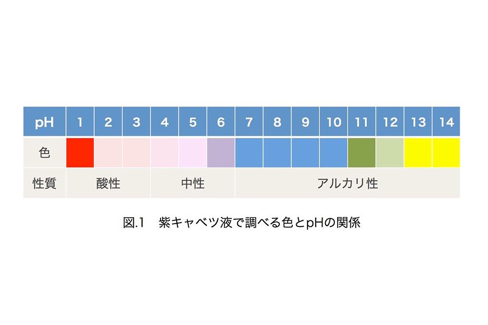 pHの色の変化の目安
