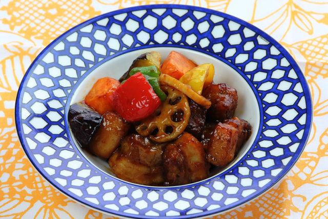 【薩摩 黒壽】黒酢を使った酢豚