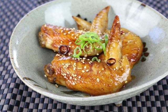 【福山米酢 赤印】手羽先の甘辛煮