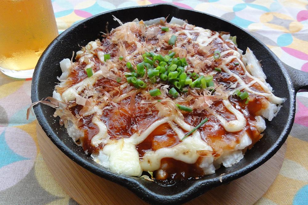 野菜たっぷり山芋鉄板焼き