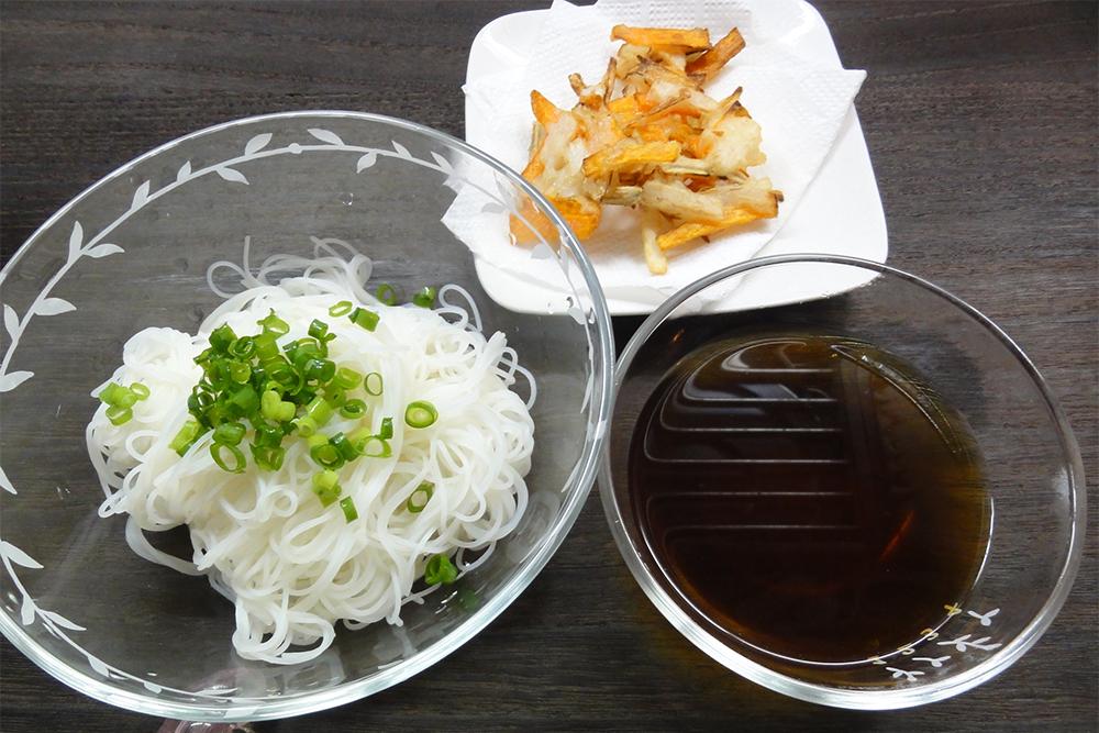 米粉野菜かき揚げビーフンソーメン