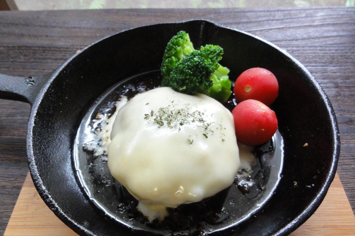 卵不使用チーズハンバーグ