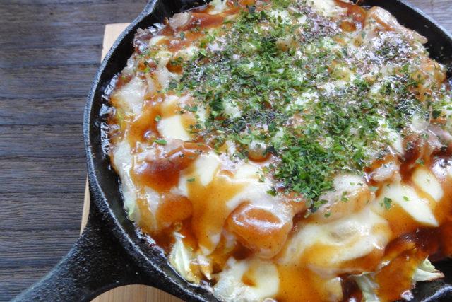 卵なし山芋鉄板焼き