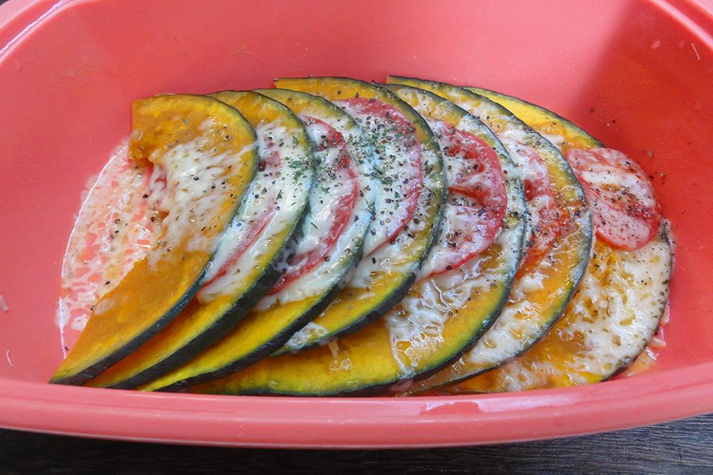 豚バラと夏野菜のシリコンスチーマー簡単調理!