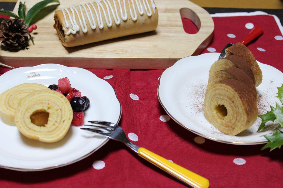 【インスタ映え日和】クリスマスロールケーキ
