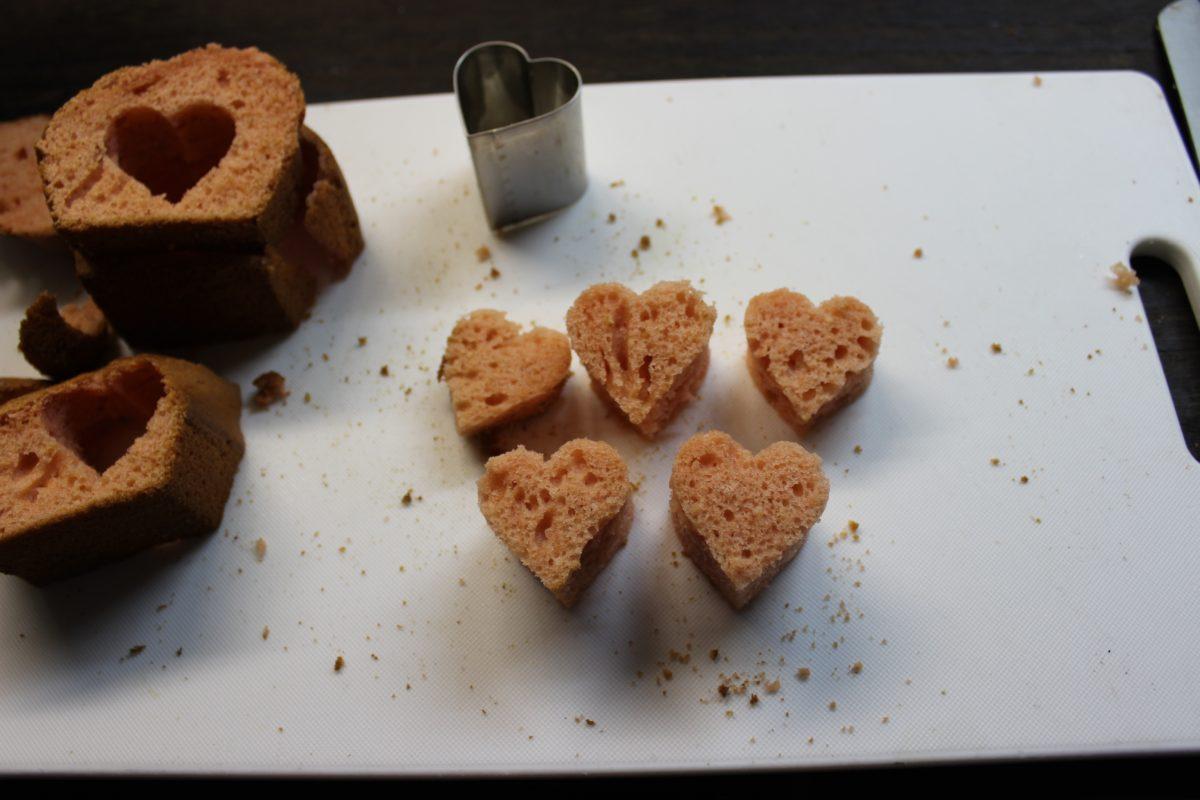 【インスタ映えするバレンタイン!】情熱的なハート。実験編,ハートパウンドケーキ
