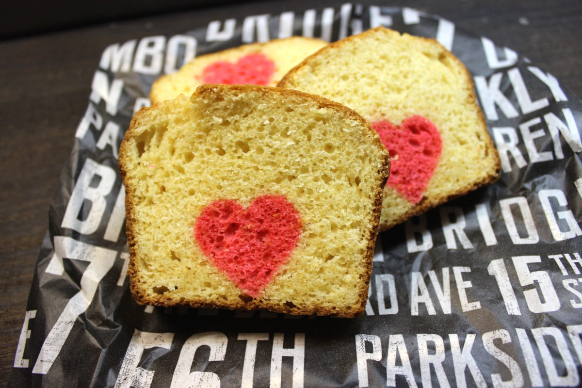 インスタ映えするバレンタイン!】情熱的なハートのパウンドケーキ。実験編,天然着色