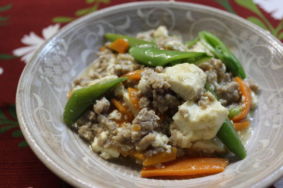 豆腐のそぼろあんかけ,小麦・卵アレルギー対策