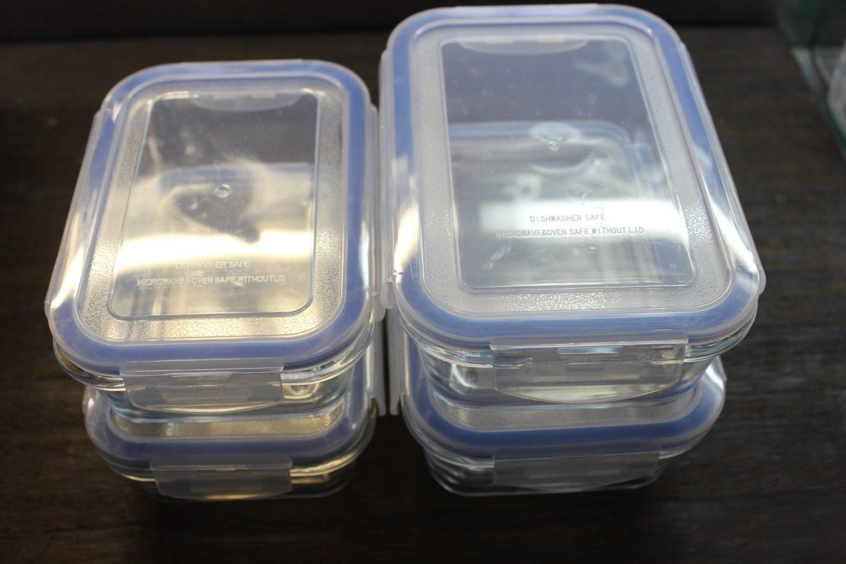 【耐熱ガラス保存容器】作り置きを始めるために!まず形から。,ニトリ,耐熱ガラス保存容器