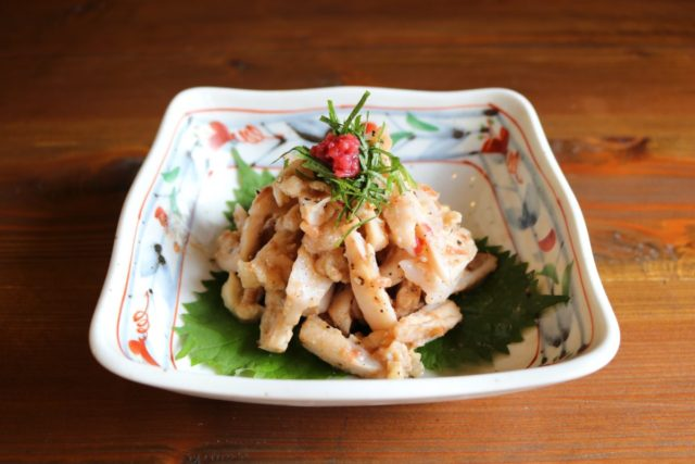 【宮崎県産エビス鶏 ヤゲン軟骨】激ウマ!梅肉和え,エビス商事