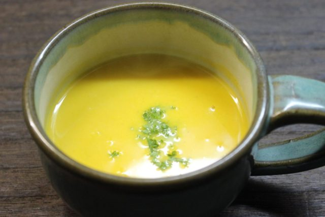 ほっこりかぼちゃスープ,小麦アレルギー対策