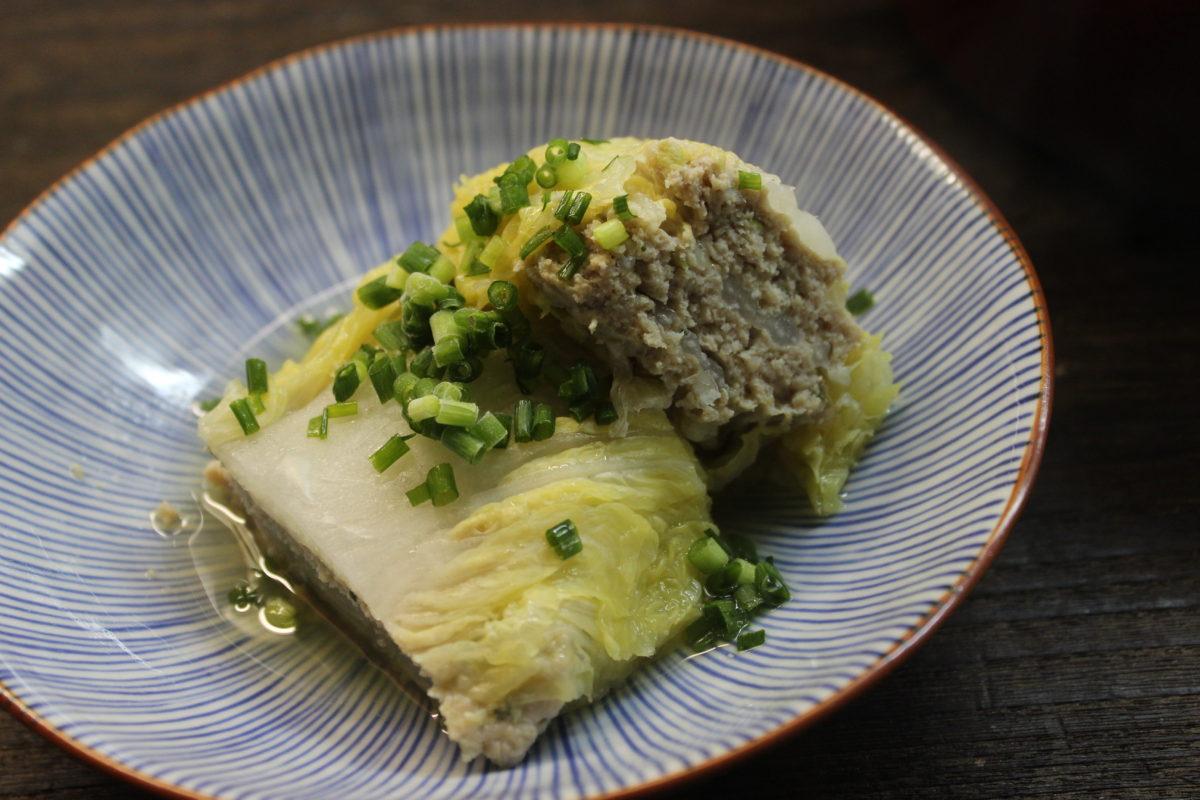 白菜と鶏ミンチの重ね煮