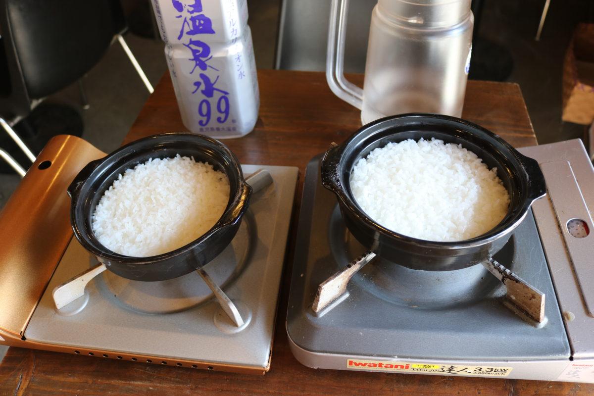 【温泉水99】温泉水99・水道水 新米炊き比べ