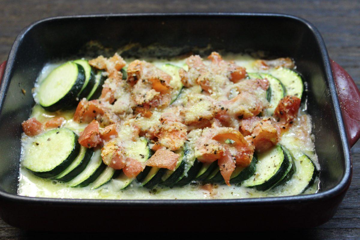 ズッキーニとモッツァレラチーズのオーブン焼き