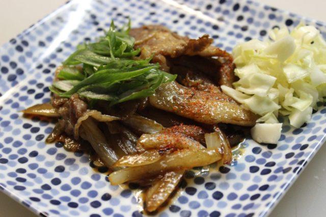 豚肉のピリ辛タレ焼き