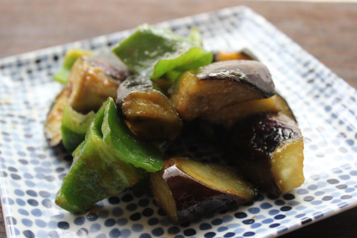 ナスの味噌炒め,秋料理